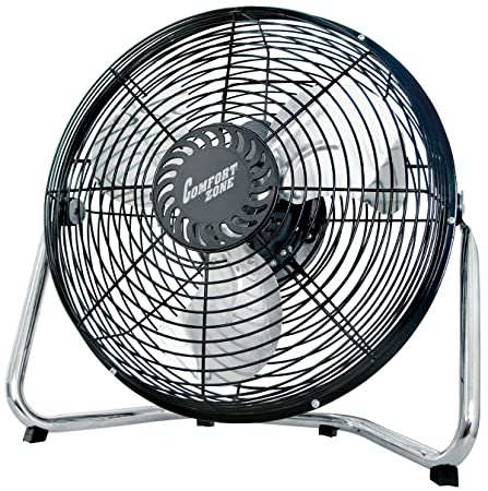 Comfort Zone High Velocity Cradle Fan 3 Speed, 12 Inch Fan with All Metal Construction