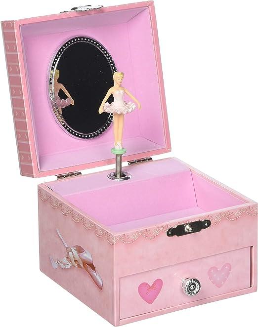 Caja de joyería Musical cuadrada de la bailarina - reproduce la ...