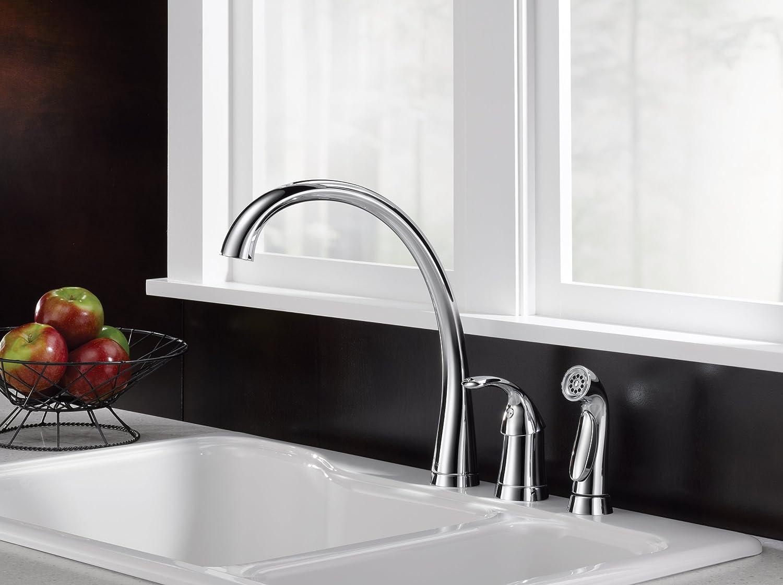 Delta Pilar Kitchen Faucet Delta Faucet 4380 Dst Pilar Single Handle Kitchen Faucet With