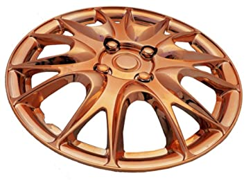 "XtremeAuto® 15"" Rose Gold Multi-Spoke Wheel Trim Hub Cap Covers Protectors -"