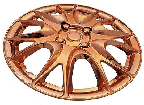 """XtremeAuto® 14 """"oro rosa multi-spoke de rueda Hub Cap cubre protectores"""