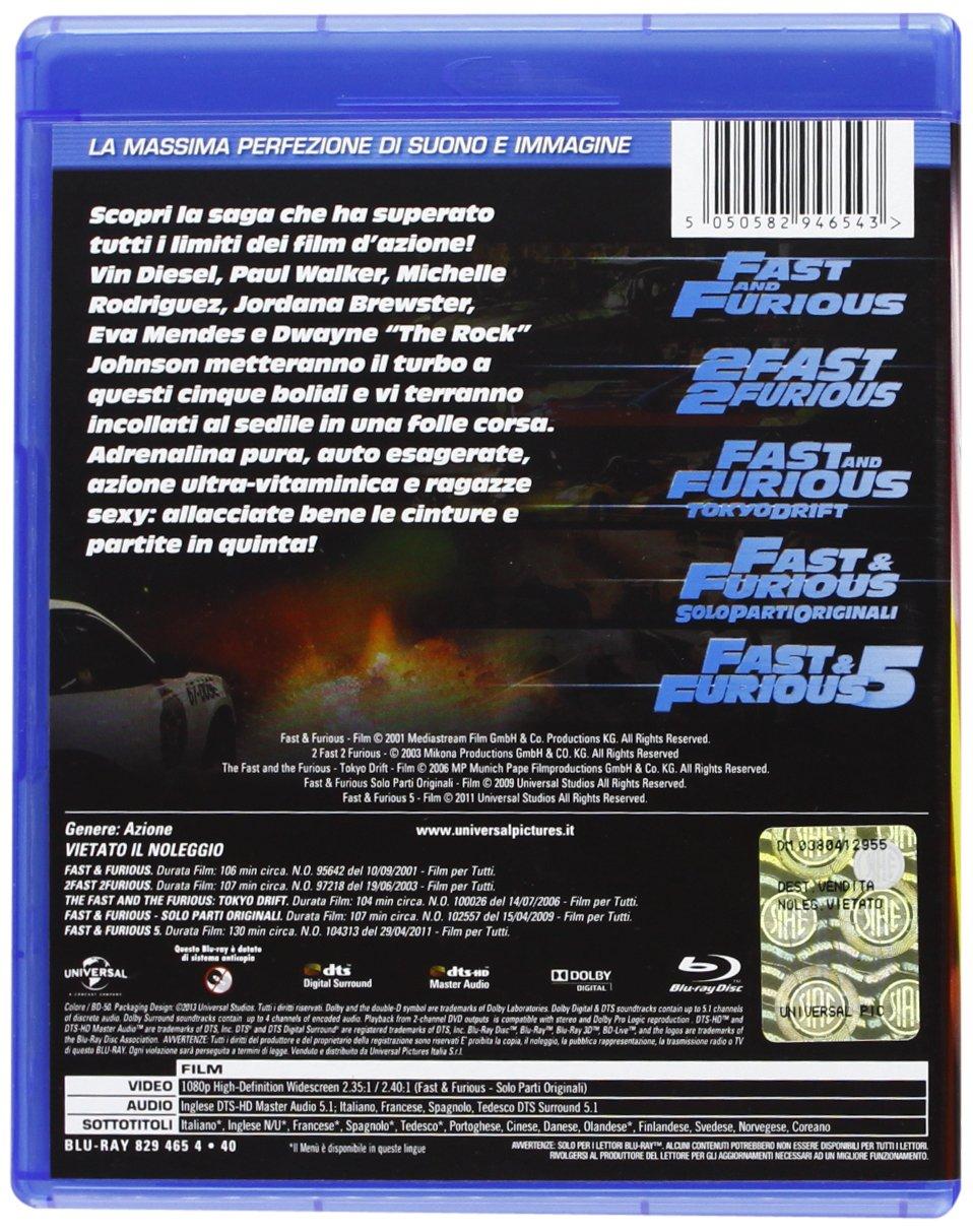 Fast Collection (5 Blu-ray) [Italia] [Blu-ray]: Amazon.es: BT, Ludacris, David Arnold, Lucas Black, Brandon Brendel, Jordana Brewster, Sonny Chiba, ...
