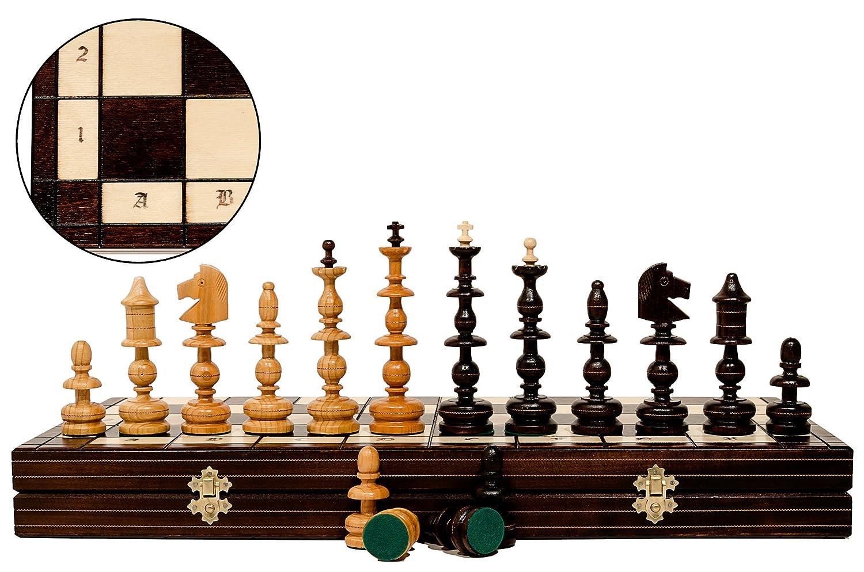 ALTPOLNISCHE 56 cm / 22in Kupfer verkrustet Luxus Modelliert aus Holz Schach-Spiel, Handcrafted klassische Spiel