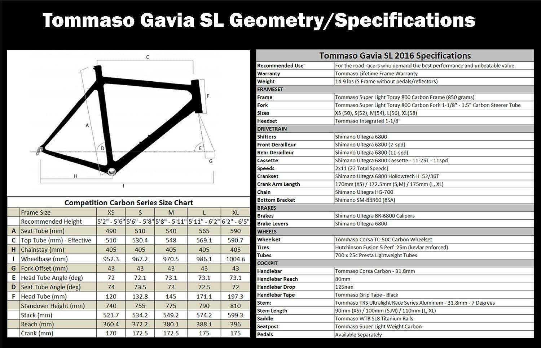Tommaso Gavia Sl Carbon Road Bike Full Shimano Ultegra Di2 Wiring Diagram 6800 Italian Racing Sports Outdoors