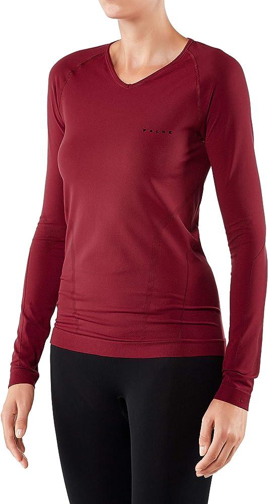 Falke Camiseta térmica de Manga Larga para Mujer, cálido, Mujer, Color Ruby, tamaño XS: Amazon.es: Ropa y accesorios