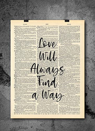 Amazoncom Love Will Always Find A Way Inspirational Wall Art