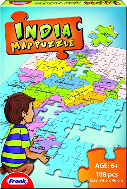 India Map Puzzle.Buy Frank India Map Puzzle Multi Color Online At Low Prices In