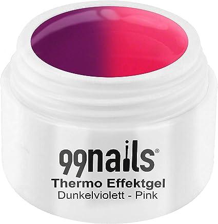 99nails - Gel de efecto térmico (5 ml), color violeta oscuro y rosa