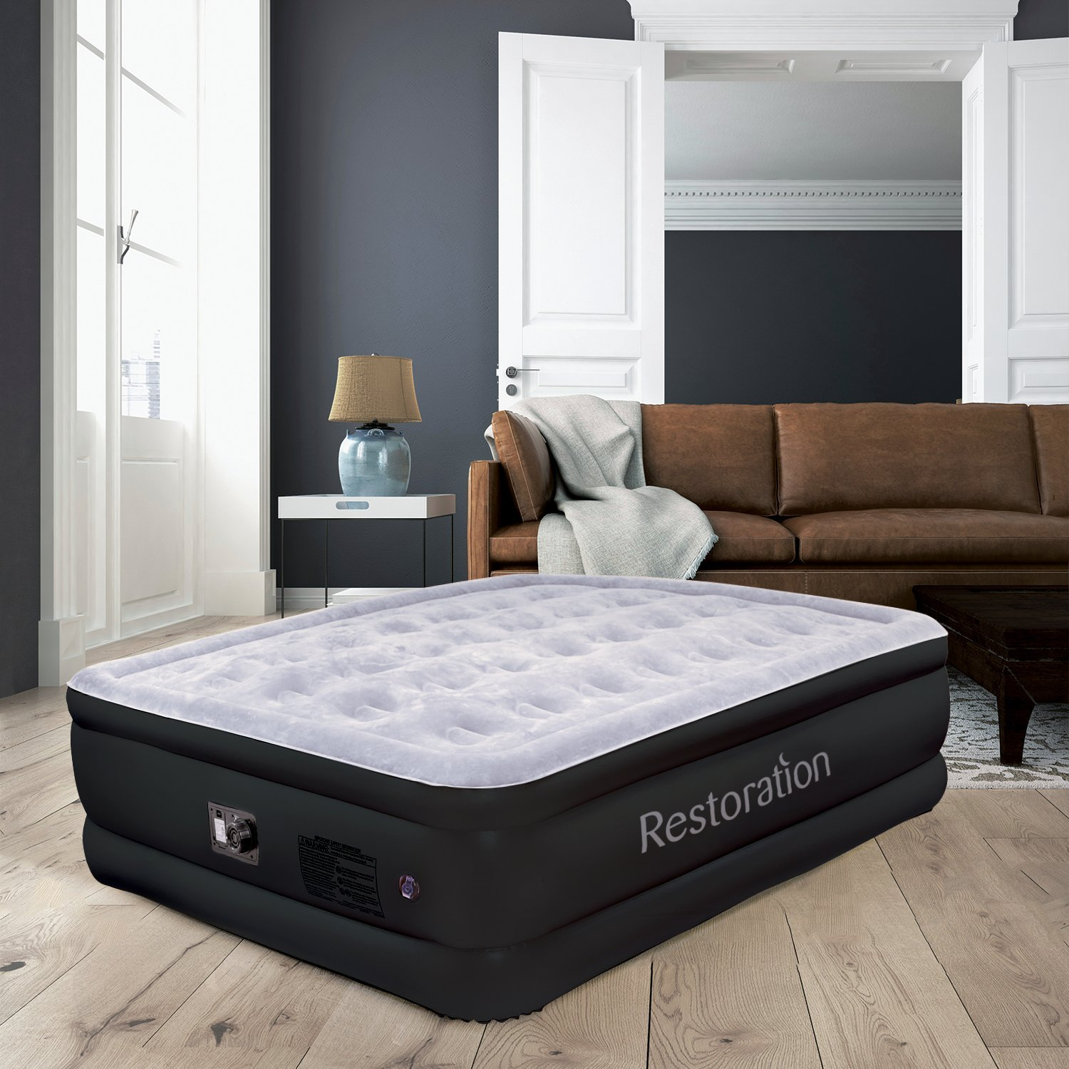 amazon com sleep restoration queen size air mattress best