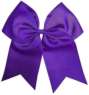 amazon com kenz laurenz cheer bows purple cheerleading softball
