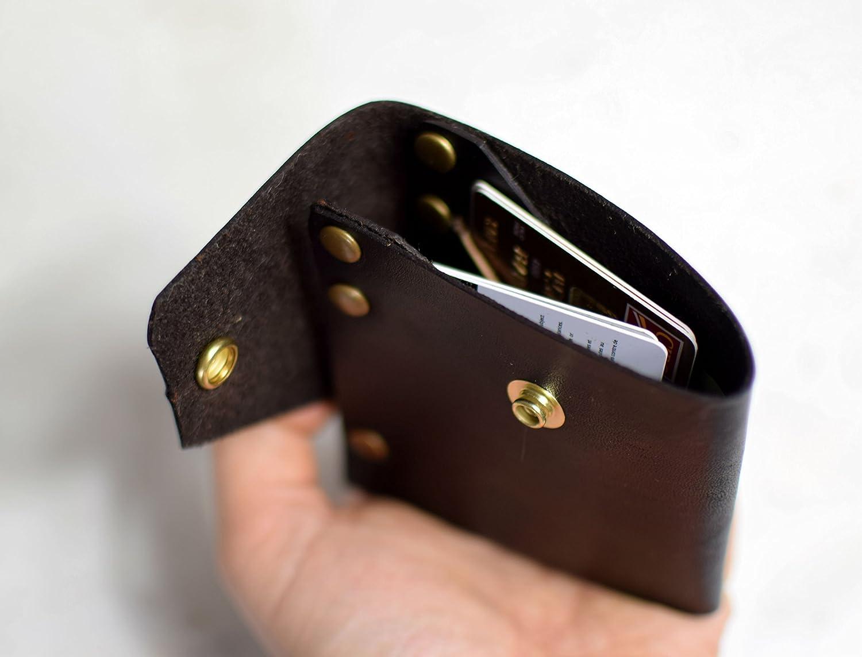 Slim Brown Genuine Leather Mens Wallet by Tiny Backpacks