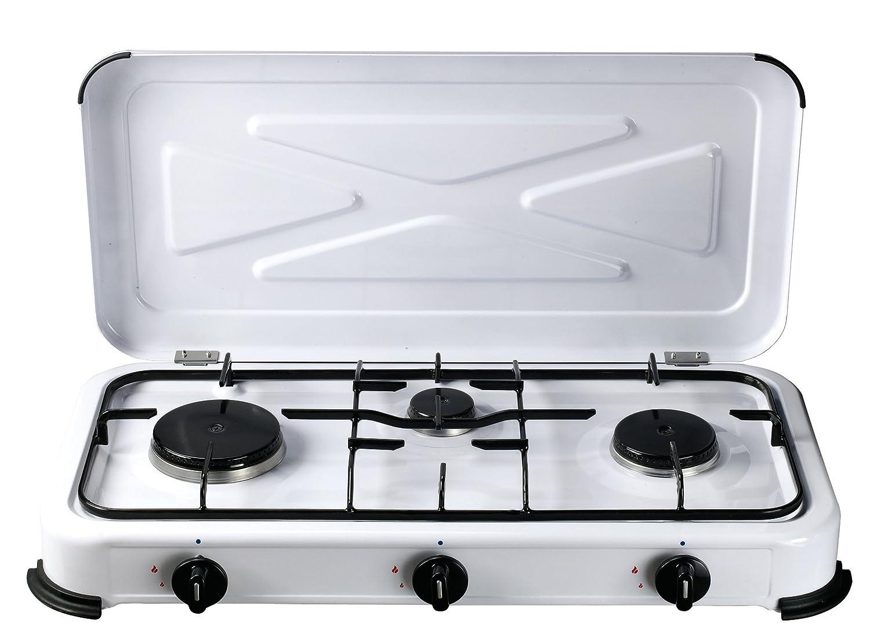 Bcalpe bg03bsm – Kocher Gas 3-flamm 33.40 X 60.50 X 10 cm, weiß