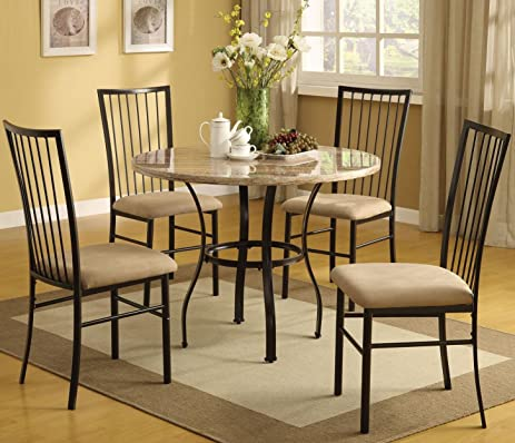 Amazon.com - ACME Furniture Darell 5 Piece Pack Dining Set in ...