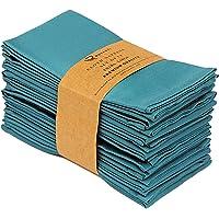 "Ruvanti Cotton Dinner Napkins 12 Pack (18"" X18""),Cloth Napkins Soft and Comfortable Reusable Napkins - Durable Linen…"