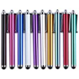 tinxi® 10er Pack universal Stylus Stift Touch Pen Eingabestift in verschiedenen Farben für alle Geräte mit kapazitiven Touchscreen Smartphone Handy PDA Tablet PC wie Apple iPhone 6 5s 5 4s 4 Samsung Galaxy S5 S2 S3 S4 S3 mini i8190 S4 mini S5830 S5830i S5360 Galaxy Note 3 Alcatel One Touch Pop C7 Sony Xperia Nokia Lumia 630 LG Google Nexus HTC Huawei / iPad Air iPad mini 2 Samsung Galaxy Tab 4 2 Tab 3 lite 7.0 Tab 3 10.1 P5200 Acer Iconia B1 A510 A511 A700 Asus Odys Sony Lenovo u.v.a...