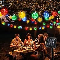 Hunrim Solar Globe String Lights Fairy Lights,39.37ft 100 LED String Lights with 8-Mode Waterproof Indoor Outdoor…