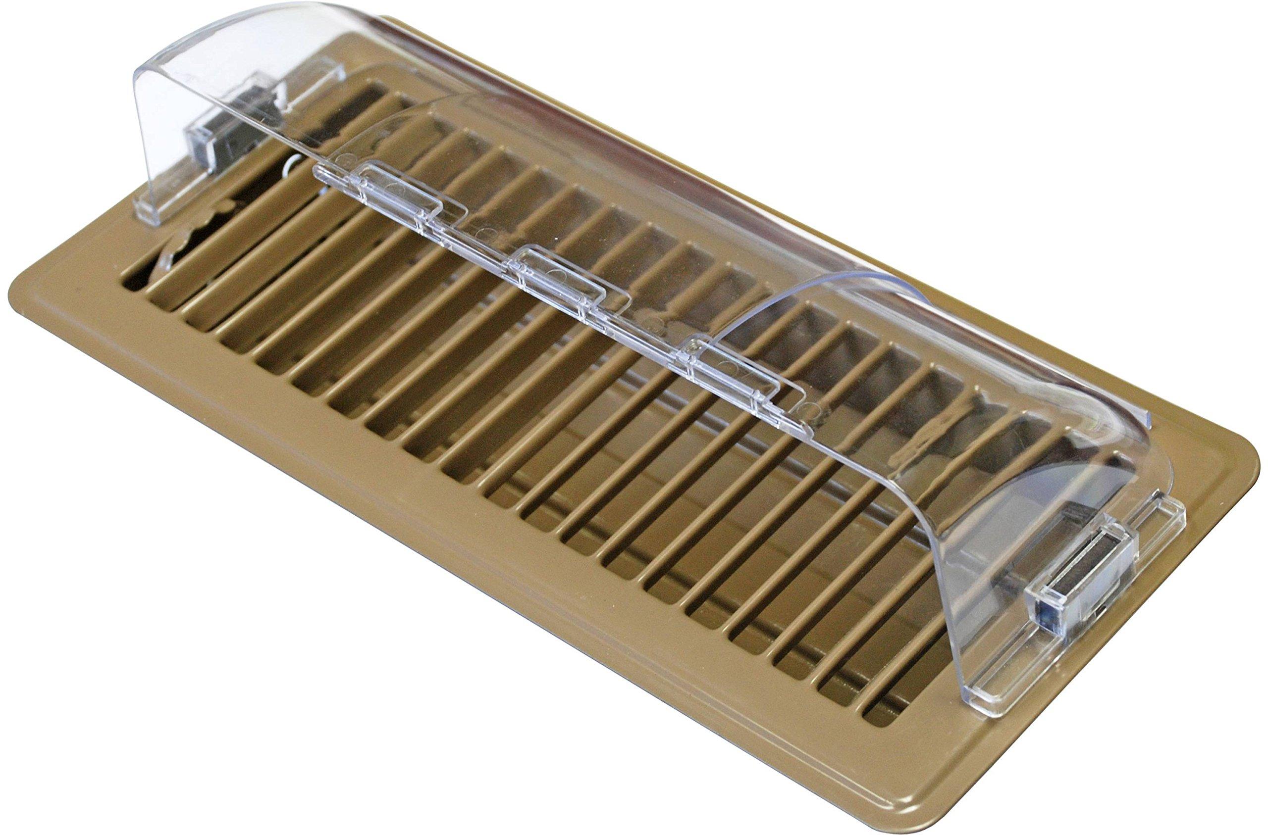Accord APFRDF Adjustable 10-Inch to 14-Inch x 4-Inch Magnetic Floor Register Deflector