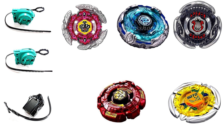 Kampfkreisel 5 XXL Mega Set Metal Fusion 4D KAMFKREISEL Set für beyblades von Rapidity® B-5 Rapidity® Fantasy-Charaktere