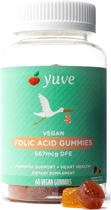 Yuve Vegan Folic Acid Vitamin Gummies