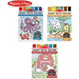 Melissa & Doug 8952 Paint with Water Activity Books Set 3-Pack; Arts & Crafts; Easy to Use; Farm, Ocean, Safari; 20 Painting Pages in Each