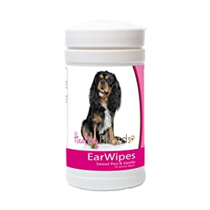 Healthy Breeds Dog Ear Wipes - Over 200 Breeds - Sweet Pea & Vanilla Scent - 70 Count
