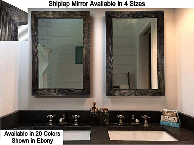 Amazon com: Shiplap Large Wood Framed Mirror Available in 4