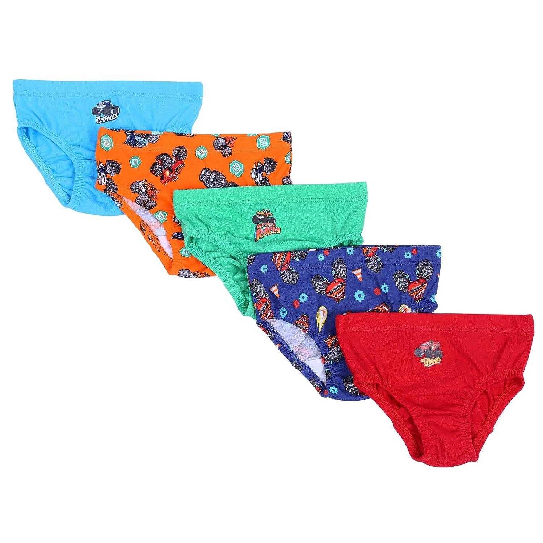 5 x Multicolour Briefs, Underwear Boys Blaze The Monster Machines Nickelodeon