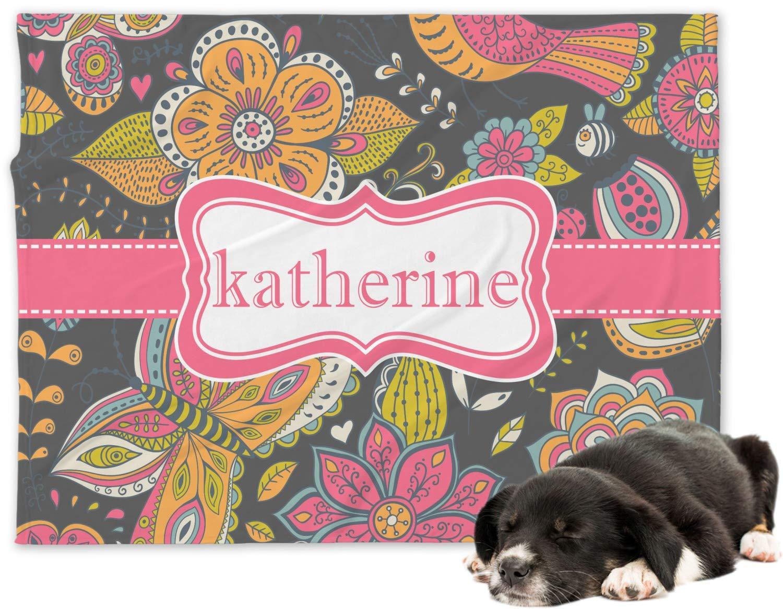 RNK Shops Birds & Butterflies Minky Dog Blanket - Regular (Personalized)