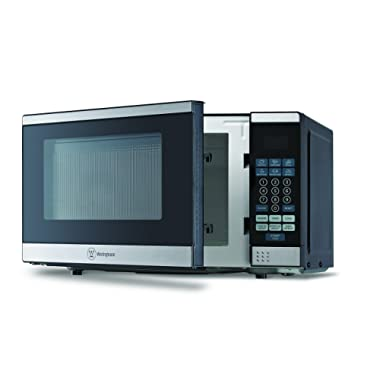 Westinghouse WCM770SS 700 Watt Counter Top Microwave Oven, 0.7Cubic Feet, Stainless Steel Front, Black Cabinet