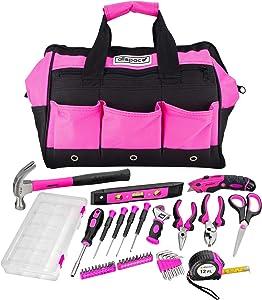 AllSpace 43Piece Ladies Pink Tool Set with Tool Bag