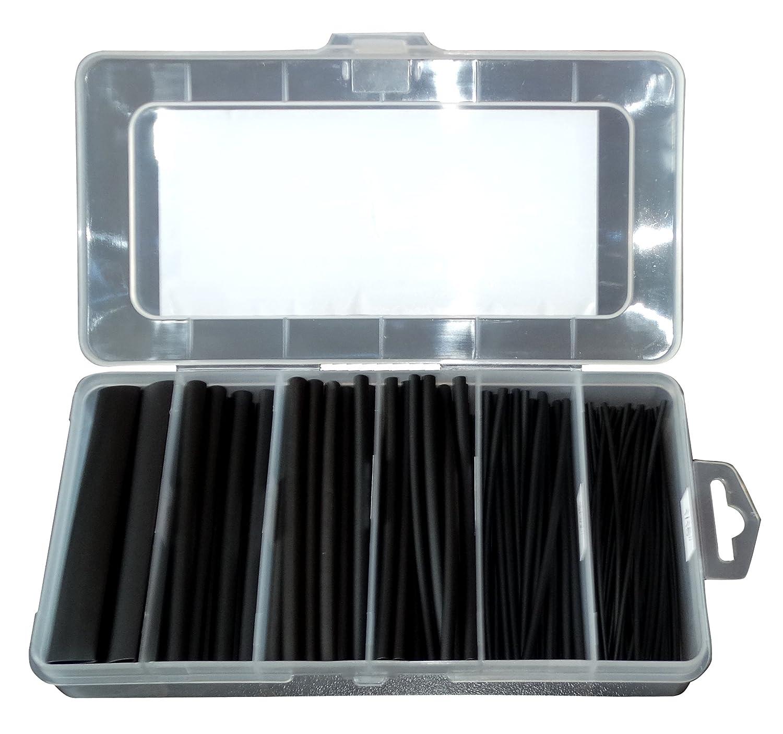 Box Set Sortiment von Schrumpfschl/äuchen 10cm 2 1 f/ür Isolationsdr/ähte elektrische Kabel AERZETIX