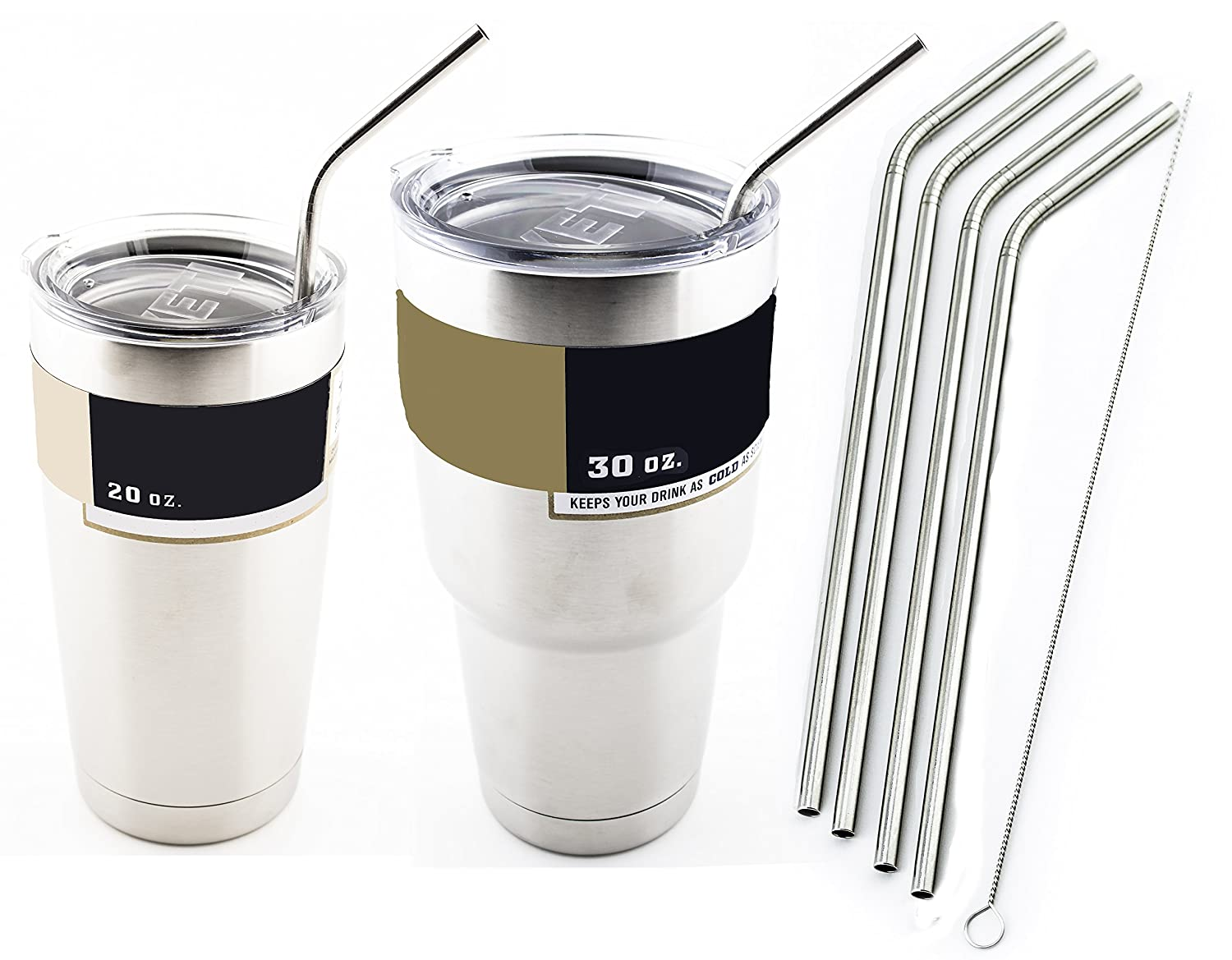 4 Bend Stainless Steel Straws Extra Long Fits 30 Oz Amp 20