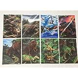 福井県立恐竜博物館 3Dポストカード 8種セット