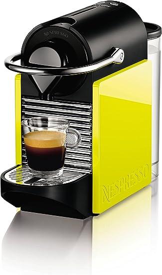 Krups Nespresso Pixie Clips XN3020 - Cafetera de cápsulas de 19 bares, 2 programas de café, bandeja extraíble, indicador luminoso de depósito vacío y función de autoapagado, color amarillo y negro: Amazon.es: Hogar