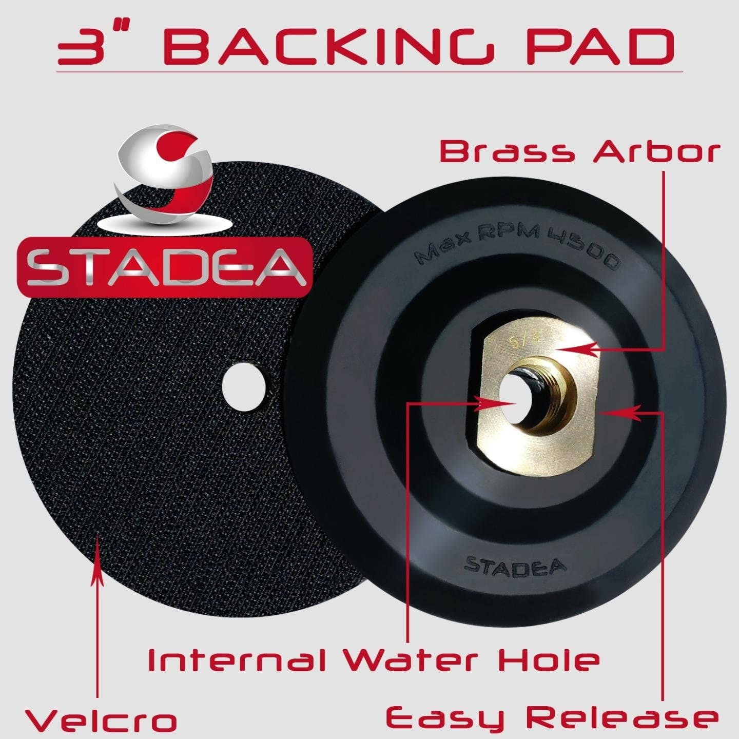 5 hook and loop backing pad Rubber Backing Pads By STADEA Shop N Save Diamond Tools BRRB05STDR00581P
