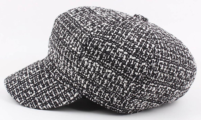 Panegy Mens Womens Cabbie Berets Cap Wool Blend Tweed Newsboy Baker Boy Hats
