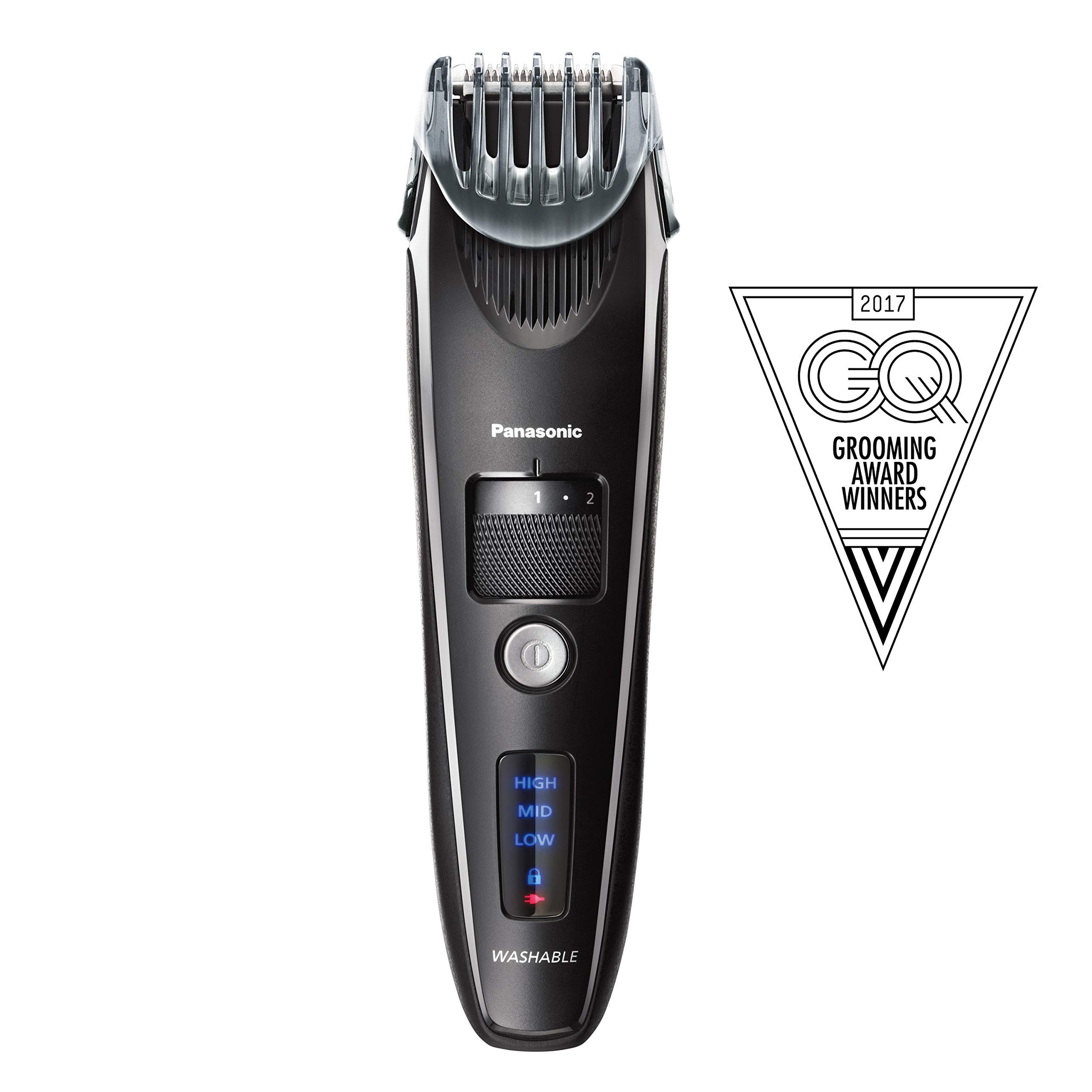 Panasonic Beard Trimmer for Men ER-SB40-K, Cordless/Corded Precision Power, Hair Clipper with Comb Attachment and 19 Adjustable Settings, Wet/Dry Use (Renewed) by Panasonic