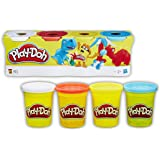 Play-Doh 4-Bundle Pack of Colours Assortment (Assorted 14073)