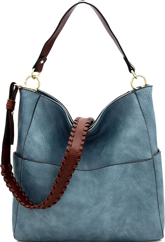 Large Shoulder Bag Large Vegan Bag Bag for Work Tote Bag with a Clutch Vegan Leather Bag Blue Bucket Bag Hobo Bag Vegan Bag Gift