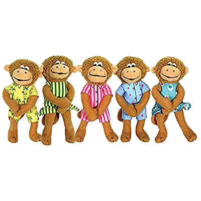 MerryMakers Five Little Monkeys Finger Puppet Playset, Set of 5, 5-Inches Each: Christelow, Eileen: Toys & Games