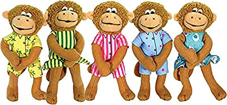 Merrymakers Five Little Monkeys Finger Puppet Playset Set Of 5 5 Inches Each Christelow Eileen Toys Games Amazon Com
