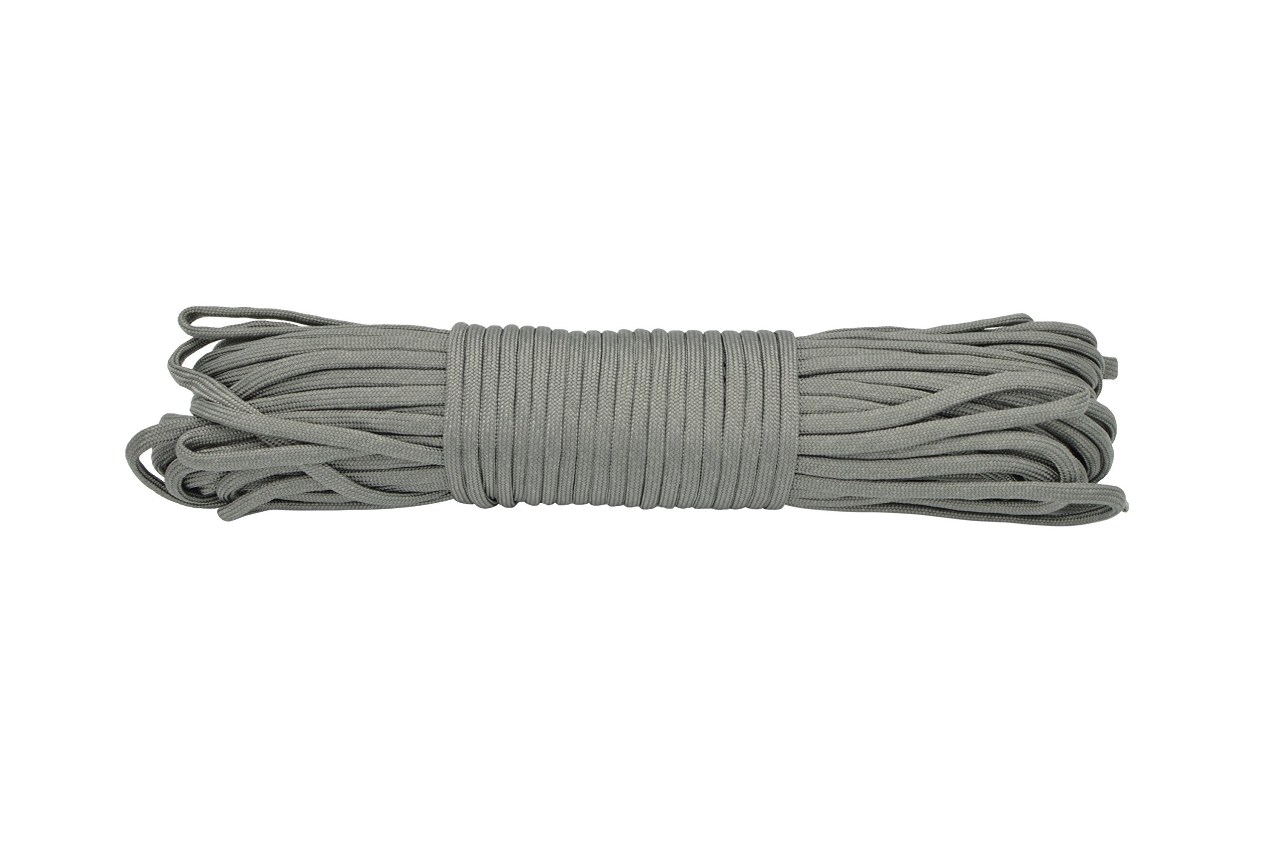 Paracord Rope 550 Type III Paracord - Parachute Cord - 550lb Tensile Strength - 100% Nylon - Made In The USA (Foliage Green, 50 Feet)