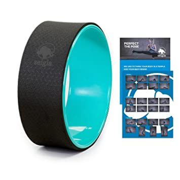 """12/"""" Yoga Wheel Basic Fitness Extra Strength Prop Comfort Safety Backbend Poses"""