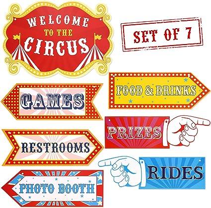 Amazon.com: Cartel de carnaval de circo para fiesta de ...