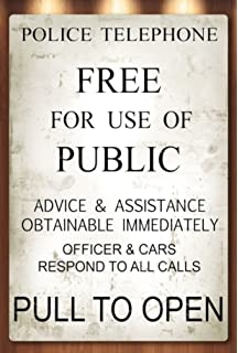photo regarding Tardis Sign Printable called : 4 PACK: Law enforcement Community Speak to