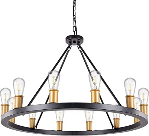 Wellmet Wagon Wheel Chandelier
