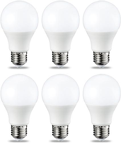 AmazonBasics Bombilla LED Esférica E27, 9W (equivalente a 60W), Blanco Cálido,