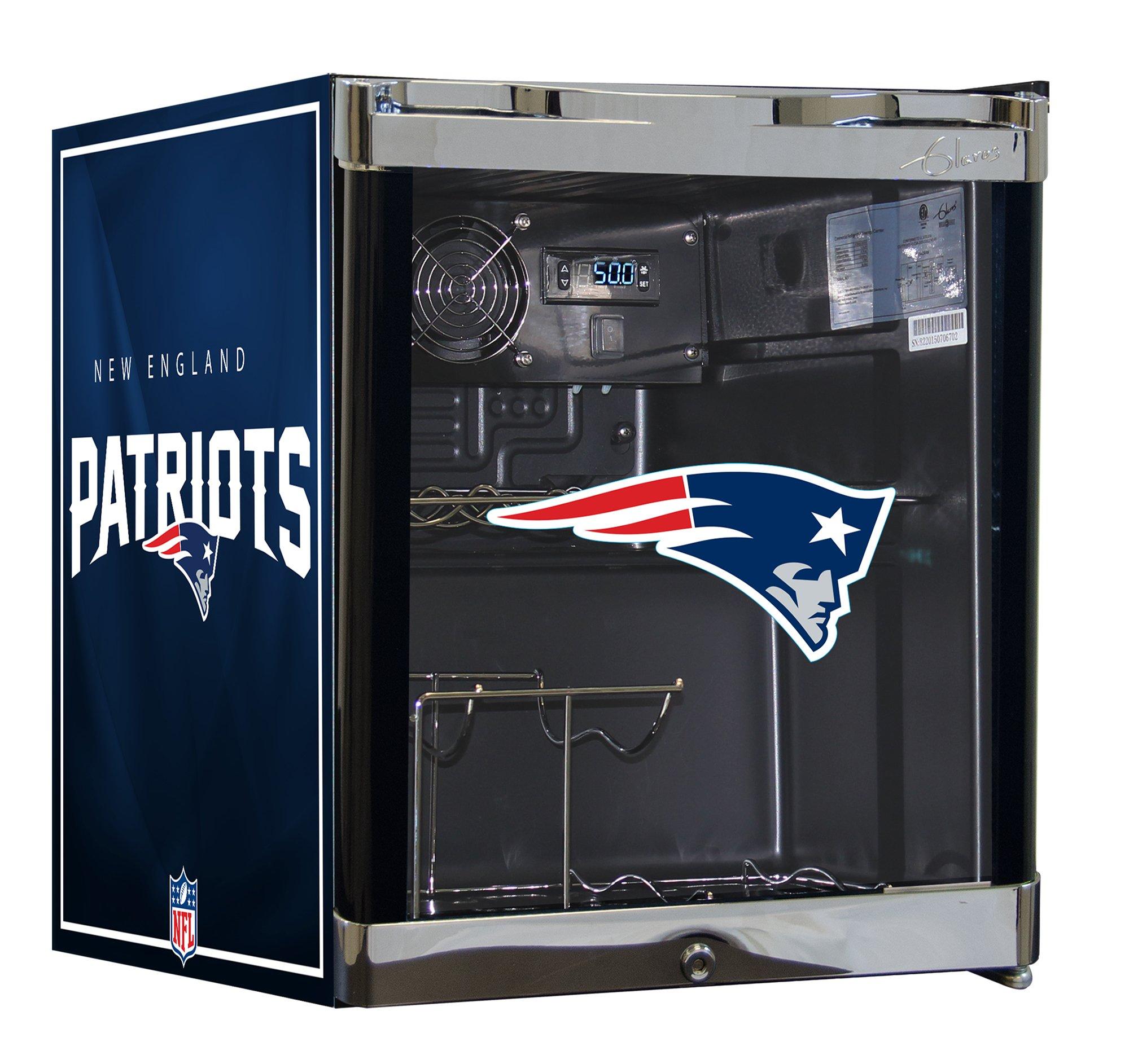 NFL Wine Cooler & Beverage Center Combo-New England Patriots