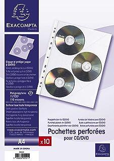 Durable - Archivador de anillas con fundas para CD/DVD 322 x 322 x ...