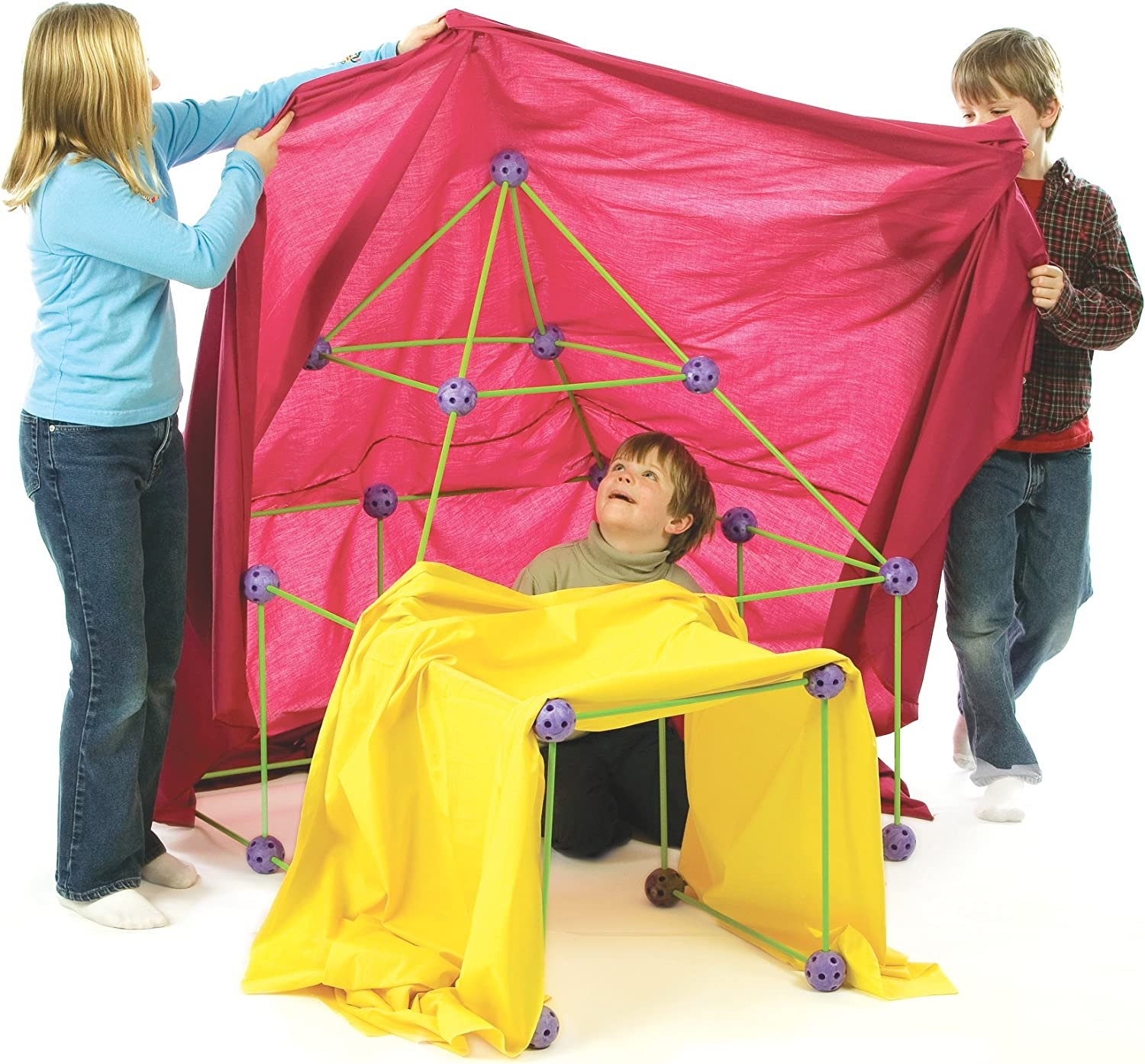 Crazy Forts, Purple, 69 Pieces/